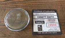 Emmitt Smith Highland Mint Limited Edition Bronze Coin in Case - Dallas Cowboys
