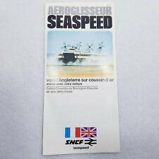 Vintage Seaspeed Aeroglisseur/Hovercraft brochure in French - Vintage 1972