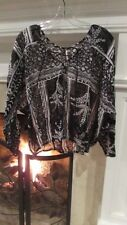 Free People Vintage Look Long Sleeve Lace Up Neckline Sz S Retail $98.00