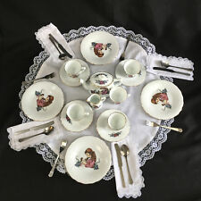UFDC Reutter BRAND NEW Porcelain Doll Tea Set by KAREN PRINCE-(PLUS BONUSES)
