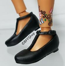 MATTEL BLACK GLADIATOR CAGE SANDALS BARBIE FASHIONISTAS FASHION SHOES FOOTWEAR