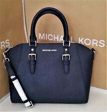 New MICHAEL KORS Ciara Large Satchel Bag Saffiano Leather Navy & MK Bag