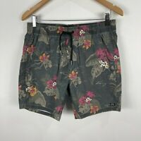 Industrie Mens Shorts Medium Multicoloured Floral Elastic Waist Drawstring