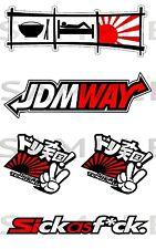 Jdm forma Stickerbomb Kit Impreso pegatinas, 180mm X 115mm Aprox Pack tamaño