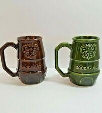 Vintage Beer Portuguese Stein Silvas Festa da Cerveja Sauda-Vos - Set of 2 Mugs