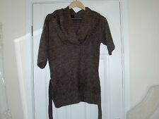 river island cowl neck brown jumper size 10