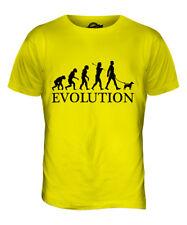Parson Russell Terrier Evolution Of Man Mens T-Shirt Tee Top Dog Walker Walking