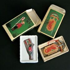 2 Hallmark Ornaments Vintage 1984 Mountie Clothespin Soldier and Sled