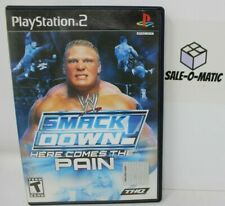 SMACK DOWN! HERE COMES THE PAIN - PLAYSTATION 2 (MANUAL INCLUDED)