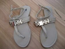 Ladies Cute Brown/ Beige Synthetic Open Flat Sandals By Temt Size 8 - Cheap