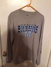 NWT NCAA Maine Black Bears Long Sleeve Gray Shirt Size Medium