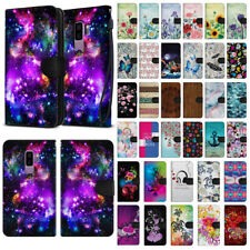 """For Samsung Galaxy S9 Plus 6.2"""" Pouch Canvas Card Holder Wallet Case Cover"""