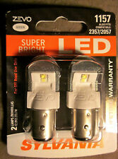 Sylvania Zevo Super Bright White 1157 2057 2357 LED 12v 0.7W/1.7W 2 NEW Bulbs