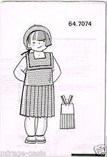 Robe fin piqué à pois. T4 à 8ans.Modes&Travaux Mai 1990,Vintage Neuf non découpé