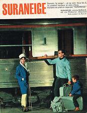 PUBLICITE ADVERTISING  1960   SURANEIGE   vetements de ski