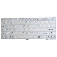 HQRP US White Keyboard for MSI V022322BS1 / S1N-1UUS2D1-SAO Wind U100 U120 U110