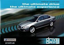 Subaru Prodrive Drive Track Days 2005-06 UK Market Sales Brochure