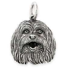 More details for solid sterling silver shih tzu dog pendant (handmade uk, also in gold)