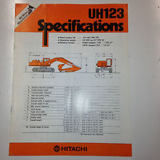 Hitachi UH123 Hydraulic Excavator Sales Literature & specifications.