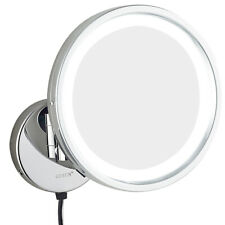 GURUN Bath Wall Mount Lighted Chrome Makeup Shaving Mirrors 7X Magnification