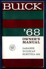 Owner's Manual * Betriebsanleitung 1968 Buick Le Sabre * Wildcat * Electra (USA)