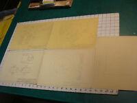vintage WALTER SANBORN ORIGINAL MECHANICAL DRAWINGS group # 3--5 pages