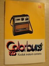 Kodak Colorburst 100 Instant Camera Instruction Book Pt. No. 633309 10-77-Hxx