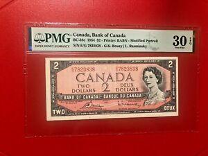1954 CANADA $2 G.K.BOUEY L.RASMINSKY PMG 30 EPQ