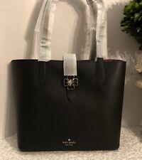 Kate Spade WKRU6287 Kaci Small Black Leather Tote Handbag Purse Shoulder Bag