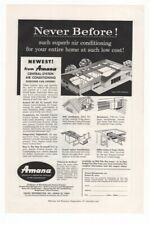 1957 Vintage Ad Amana Central System Air Conditioning Everyone Can Afford