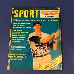 "FRANK 'HONDO"" HOWARD  Hand Signed on cover  APRIL 1961 Sport Magazine"