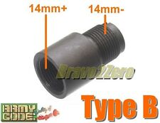 Airsoft Wargame Barrel Thread Adapter 14mm CW to CCW for AEG GBB GBBR (Type B)