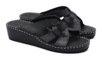Fares Womens EU Size 39 Black Sandals