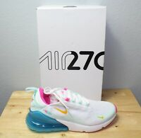 NWB Womens Nike Air Max 270 White Pink Blue Pastel CJ0568-100 New Color Size 8.5