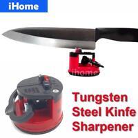 New Amazing Suction Knife Sharpener Manual Sharp Chef Kitchen Damascus Knives