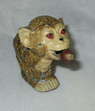 METAL MONKEY EATING NUT Tape Measure; SPRING  Antique,Original 19th century