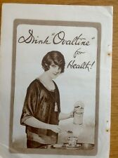 Drink 'Ovaltine for Health'...period advertisement, would frame well. FREE P+P!