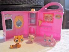 Littlest Pet Shop Lot: Doggie Diner~Chinchilla #599~Hamster #1341~Tiger Cat #905