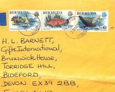 BT16 1990 Bermuda Wildlife HIGH RATE Commercial Airmail Cover $2 GULL FISH BIRDS