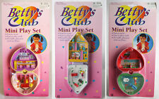 3 X VERY RARE VINTAGE 90'S BETTYS CLUB PLAYSET PET DOT POLLY POCKET NEW MOSC !