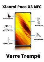 Pack 3 vitre film protection verre trempé écran pour Xiaomi Poco X3 NFC
