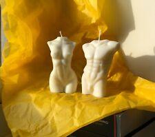 Set Pareja Hombre Mujer Desnuda cuerpo desnudo Vela Natural Cera De Soja Perfumado