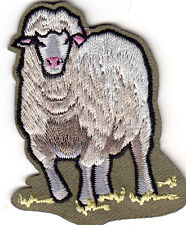 SHEEP - FARM ANIMAL - IRON ON EMBROIDERED APPLIQUE PATCH
