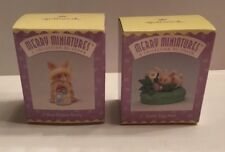 Hallmark Merry Miniatures Easter Lot Of 2: Easter Egg Hunt & Blue Ribbon Bunny