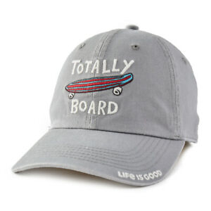 Life Is Good. Kid's Chill Cap Totally Board, Slate Gray