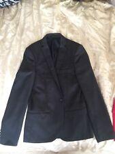 Dark Grey Mens Topman Blazer Small Size 36
