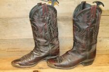 DAN POST MENS OXBLOOD LEATHER COWBOY BOOTS SZ 9 D