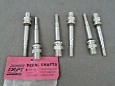 NOS CRUPI BMX 9/16 PEDAL SHAFTS Aluminum ALLOY for Suntour XC and Victor Pedals