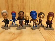 "Marvel X men mini bobble head 7 Figure lot 7 pieces 2.5"" nightcrawler storm"