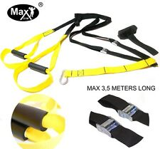 Max Gym® Suspension Trxainer Straps Kit-Body Weight Exercise  Training Crossfi